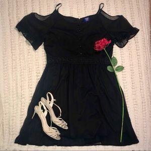 Disney Off-The-Shoulder Black Dress